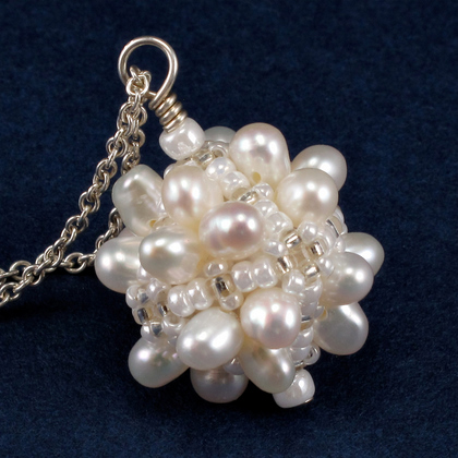 white bubble box pearls
