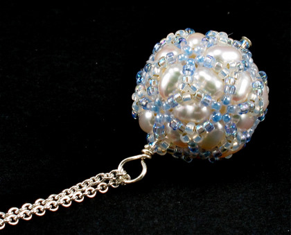 disco ball white pendant
