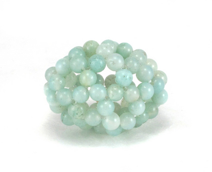egg small green beads