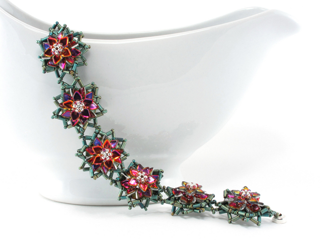 Poinsettia Bracelet by Cindy Holsclaw