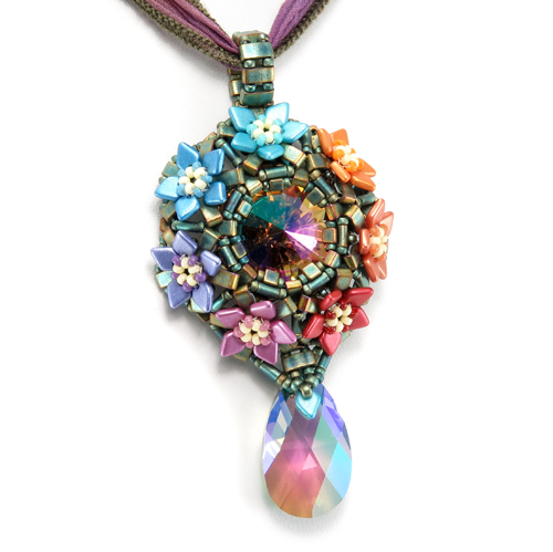 Prism Blossoms Pendant by Cindy Holsclaw