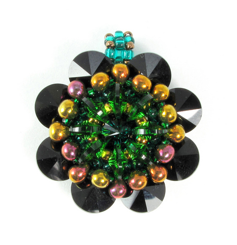 rivoli kaleidoscope black and green