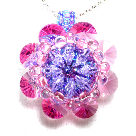 rivoli kaleidosope pendant pink and purple