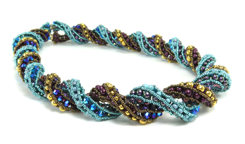 doubled supercoiled beaded rope