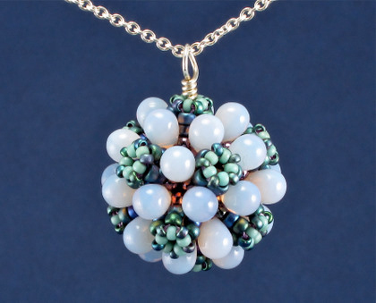 teardrop bubbles pendant