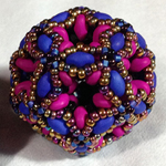 Fiberoptic Dodecahedra Beaded Beads