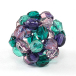 Candy Dodecahedron Beaded Bead
