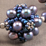 Purple Pearls Double Bubble Jacks Necklace
