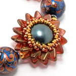 Double Pinwheel Beaded Bead