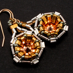 Metal Half Tila Technocluster Earrings
