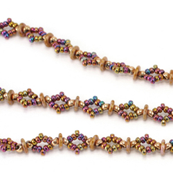 Diamond O Beaded Chain