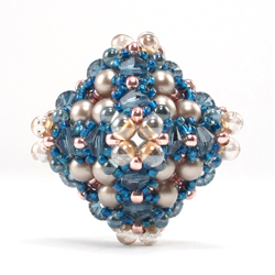 Sparkling Compass Beaded Bead by Cindy Holsclaw
