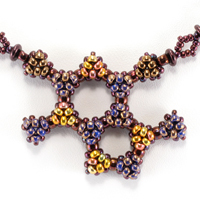 Chocolate and Raspberry Beaded Molecules