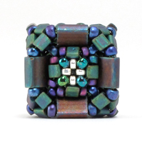Cubed Tilas Beaded Bead