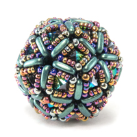 Opulent Deltahedra Beaded Beads